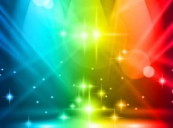 Luces multicolores de fondo del partido