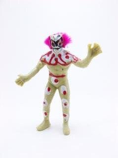 luchador payaso de juguete