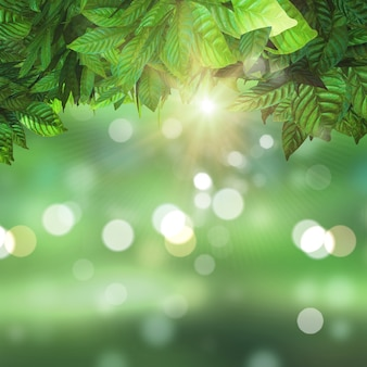 Luminoso paisaje verde