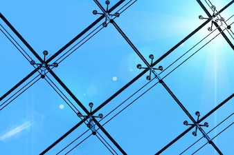 Luz de transmisión de metal ventana de oficina