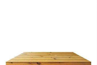 Madera de la mesa o estante sobre aislar