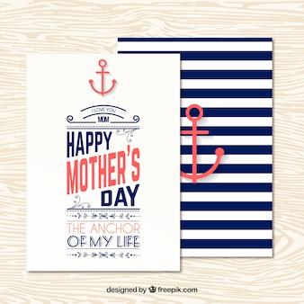 Madres náuticos tarjeta de felicitación del día