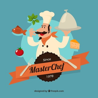 Maestro cocinero illustratio