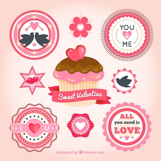 Magdalena y etiquetas de San Valentín