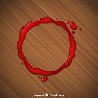 Mancha roja de vaso
