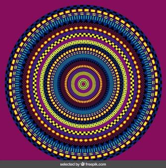 Mandala colorido abstracto