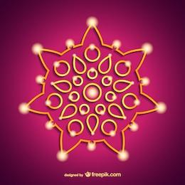 Mandala india vectorial