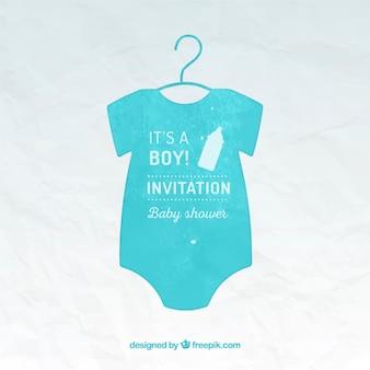 Mano del bebé pintado plantilla Tarjeta de la ducha