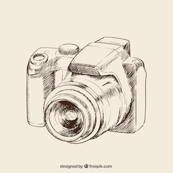 Mano dibujado cámara