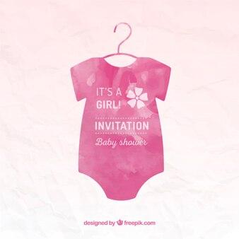 Mano Tarjeta de Baby Shower pintada