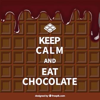 Manten la calma y come chocolate