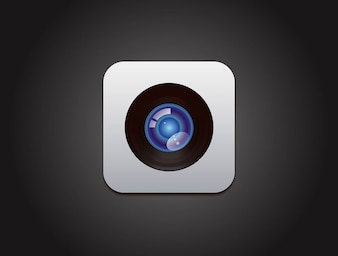 Manzana cámara de diseño vectorial