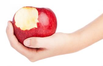 Manzana con un mordisco