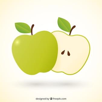 Manzana partida en dos