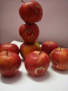 Manzanas rojas, rojo