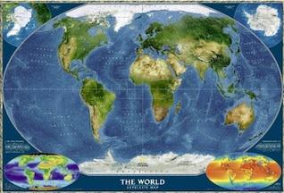 mapa de la tierra de imagen HD