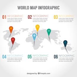 Mapa del mundo infografía