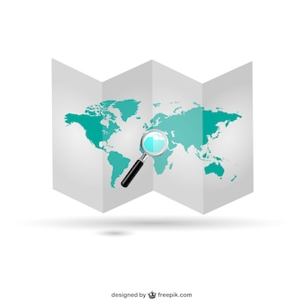 Mapa del mundo plegado