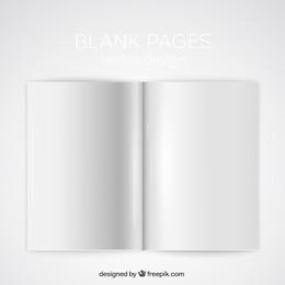 Maqueta de páginas en blanco