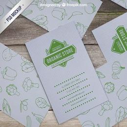Maqueta de tarjeta de tienda orgánica