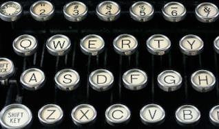 máquina de escribir antigua, cercano,
