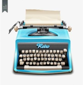 Máquina de escribir azul claro