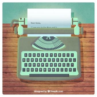 Máquina de escribir retro