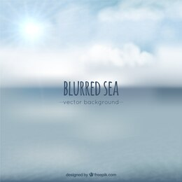 Mar borroso de fondo