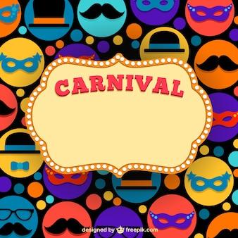 Marco de carnaval sobre iconos de carnaval