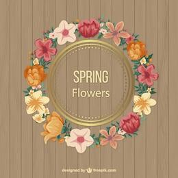 Marco de flores primaverales