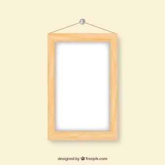 Marco de madera rectangular