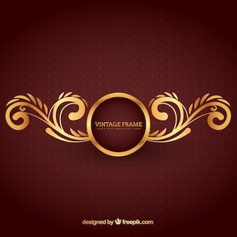 Marco de oro en estilo ornamental