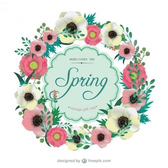 Marco floral en estilo de primavera