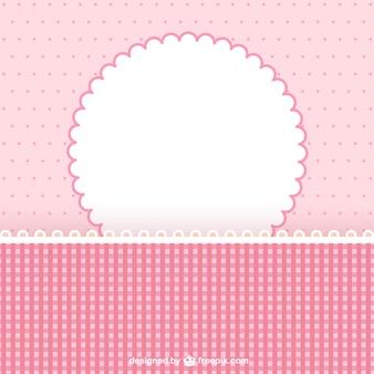 Marco rosa para libro de recortes