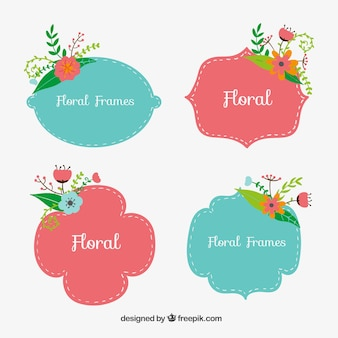 Marcos florales lindas