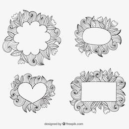 Marcos ornamentales esbozados