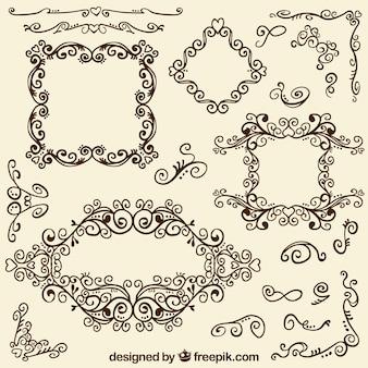 Marcos y esquinas ornamentales