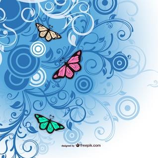 Mariposa Arte Libre vector