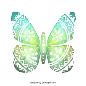 Mariposa pintada a mano