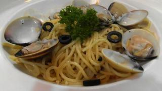 mariscos espaguetis