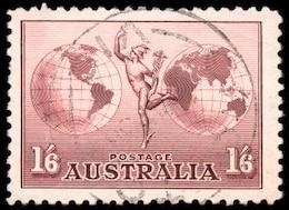 marrón sello de correo aéreo