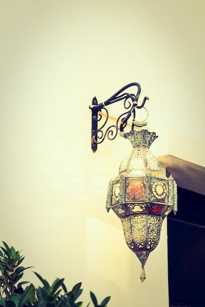marruecos ligeras decoracin de la lmpara