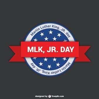 Etiqueta de Martin Luther King días
