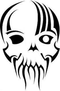 Máscara de calavera clip art tribal