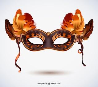 Máscara de carnaval con plumas gratis