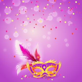 Máscara de carnaval glamourosa