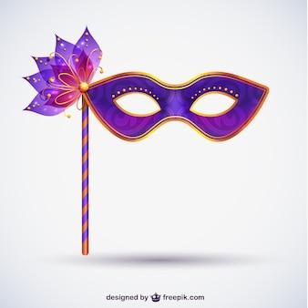 Máscara del carnaval en tonos morados
