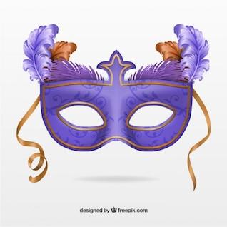 Máscara púrpura del carnaval