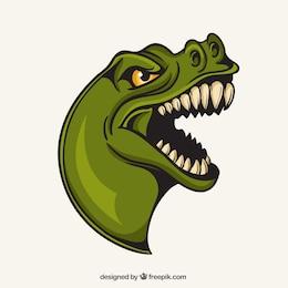 Mascota de T-rex