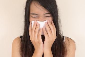 Médica de la salud del tejido blanco alergia